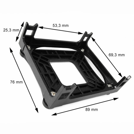 AAB Cooling Intel 478 backplate/RM