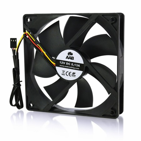 AABCOOLING Black Silent Fan 12